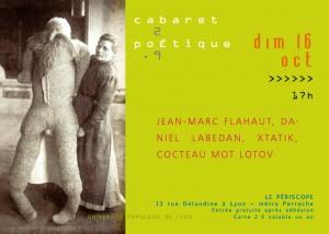 Le grand retour du cabaret poétique, le dimanche 16 octobre au Périscope