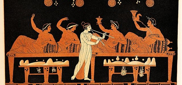 Banquet-pensee - symposium-with-flute-girl