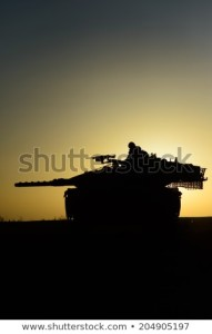 israeli-tank-near-gaza-strip-450w-204905197