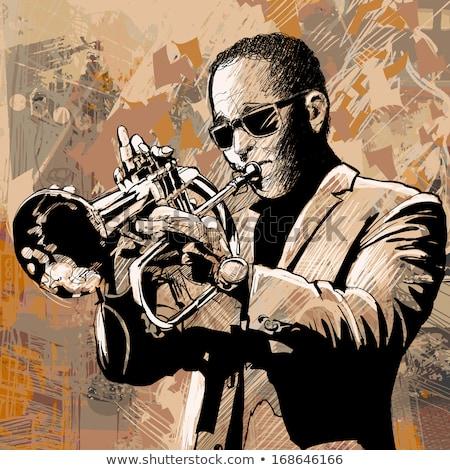 vector-illustration-trumpet-player-450w-168646166