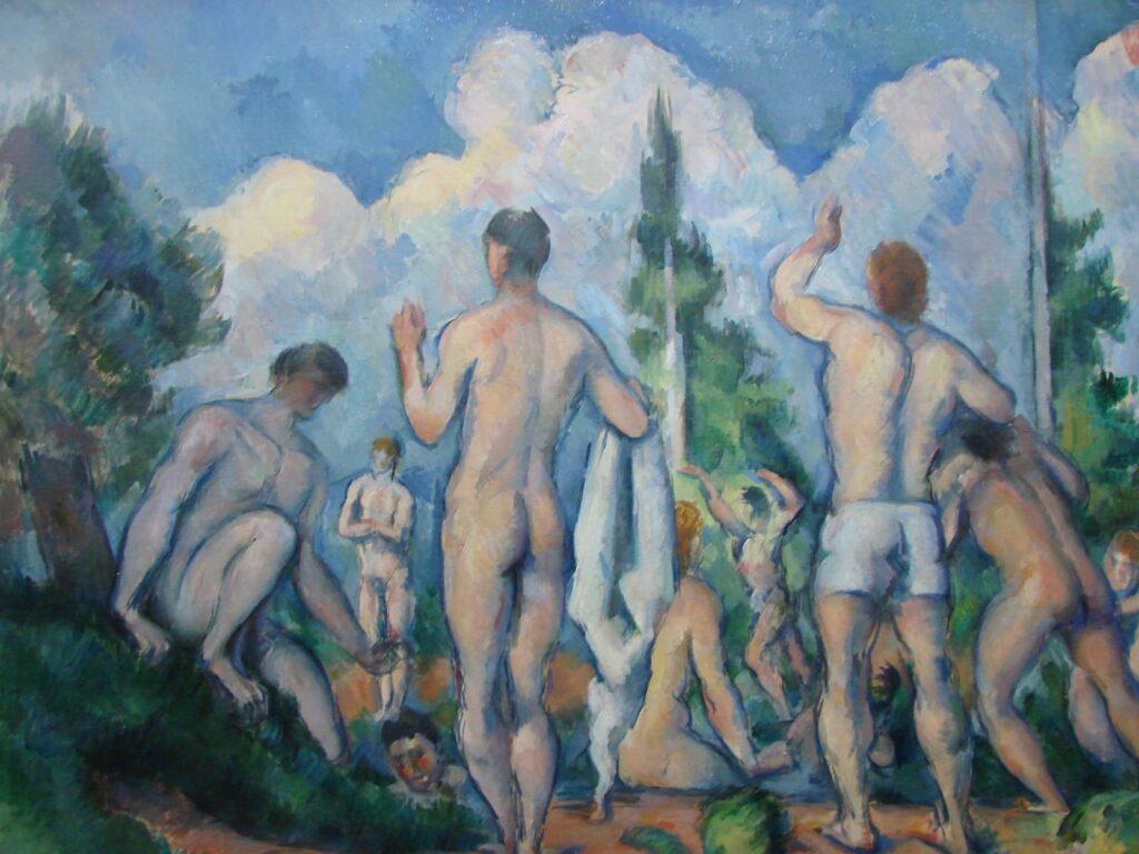 Pop Up 3 Les baigneurs de Paul Cézanne